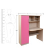Study Table in Sandy Sawline & Pink Colour by Crystal Furnitech