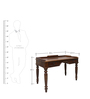 Study Table in Teak Wood Finish Colour by RVF