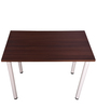 Study Table in Walnut Finish with Frosty White Legs by Addy Design