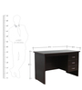Study Table with Three Drawers in Wenge Colour by Crystal Furnitech