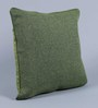 Stybuzz Green Jute 16 x 16 Inch Embroidered Cushion Cover - Set of 5