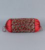 Stybuzz Maroon Jute 16 x 30 Inch Bolster Covers - Set of 2