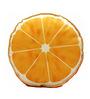 Stybuzz Orange Velvet 16 x 16 Inch Fruit Slice Cushion Cover with Insert