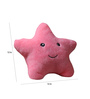 Stybuzz Pink Velvet 12 x 12 Inch Cute Star Abstract Cushion Cover with Insert