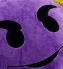 Stybuzz Purple Velvet 14 x 14 Inch Devil Smile Emoji Cushion Cover with Insert