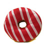 Stybuzz Red & Brown Velvet 16 x 16 Inch Donut Pillow Cushion Covers with Insert