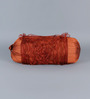 Stybuzz Rust Tissue Silk 16 x 30 Inch Bolster Covers - Set of 2