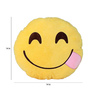 Stybuzz Yellow Velvet 14 x 14 Inch Yummy Emoji Cushion Cover with Insert
