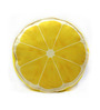 Stybuzz Yellow Velvet 16 x 16 Inch Lemon Fruit Slice Cushion Cover with Insert