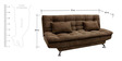 Supersoft Sofa Bed with Sunrise Fabric in Brown Colour by Furny