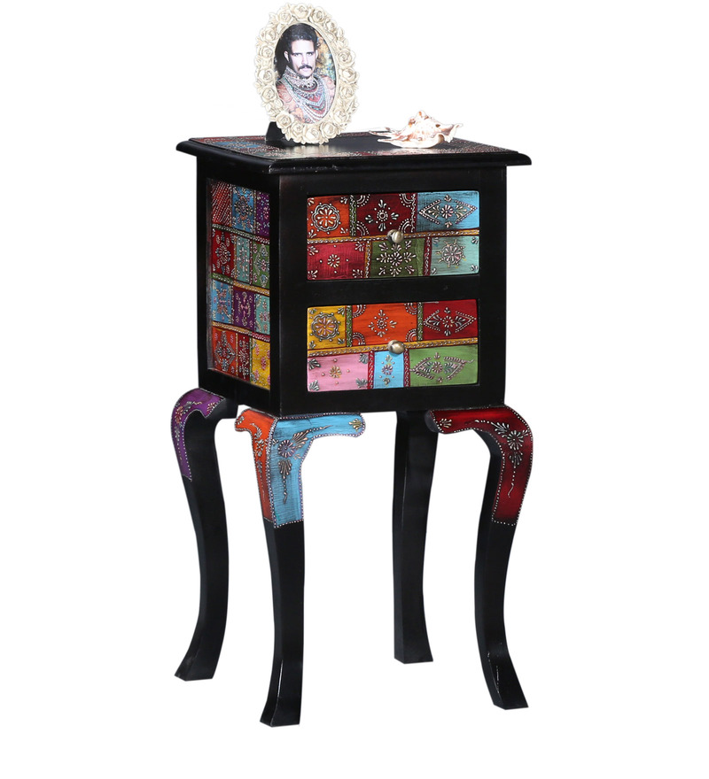 ... End Table with Two Drawers by Mudramark Online - Indian Ethnic - End
