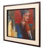 Sublime Galleria Canvas 24 x 1.5 x 28 Inch Lady Framed Original Painting
