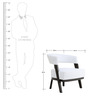 Sudan One Seater Lounge Chair in White Colour by Furnitech