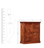 Sumana Handcrafted Cabinet in Honey Oak Finish by Mudramark