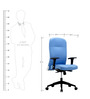 Supremo Series B High Back Office Chair in Blue colour by BlueBell Ergonomics