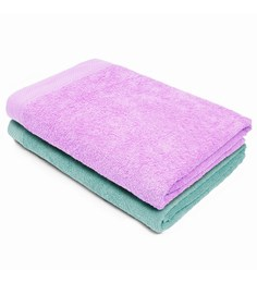 Swiss Republic Blue And Pink Cotton 28 X 59 Bath Towel - Set Of 2 - 1563332