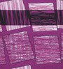 Swastika Purple Cotton Queen Size Bed Sheet  - Set of 3