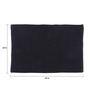 SWHF Black Cotton 35 x 24 Inches Loop Jumbo Door Mat