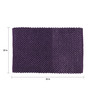 SWHF Purple Poly Cotton 30 x 20 Inch Solid Rectangular Indoor Bubble Area Rug