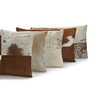 SWHF White Leather 12 x 20 Inch Cushion Cover