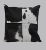 SWHF White Leather 18 x 18 Inch Cushion Cover