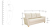 Sydney Three Seater Sofa in Ivory Colour by Furnitech