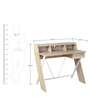 Sydney Study Table in Oak Colour by HomeTown