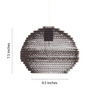 Sylvn Studio Brown Corrugated Board Orb Pendant