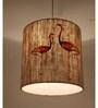 Sylvn Studio Brown Corrugated Cardboard Flamingo Lamp Pendent