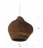 Sylvn Studio Brown Corrugated Cardboard Pottery  Pendent