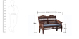 Taksh Handcrafted Two Seater Sofa in Provincial Teak Finish by Mudramark