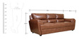Taylor Leatherette Three Seater Sofa in Tan Colour by HomeTown