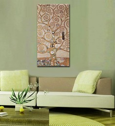 Tallenge Rolled Canvas 12 X 24 Inch Old Masters Collection The Tree Of Life, Stoclet Frieze By Gustav Klimts Unframed Digital Art Prints