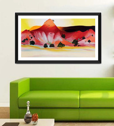 Tallenge Photographic Paper 24 X 1 X 12 Inch Modern Masters Collection Hills And Mesa By Georgia O'Keeffe Framed Digital Art Print