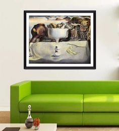 Tallenge Photographic Paper 24 X 1 X 18 Inch Modern Masters Collection Apparition Of A Face And Fruit Dish On A Beach By Salvador Dali Framed Digital Art Print