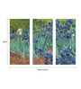 Tallenge Canvas 36 x 0.5 x 24 Inch Irises by Vincent Van Gogh Premium Quality Ready to Hang Framed Art Panels - Set of 3