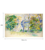 Tallenge Canvas 70 x 1 x 43 Inch View of A Park by Pierre Auguste Renoir Framed Large Digital Art Print