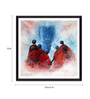 Tallenge Photographic Paper 12 x 1 x 12 Inch Buddha With Disciples Framed Digital Art Print