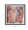 Tallenge Photographic Paper 12 x 1 x 12 Inch Modern Masters Collection Les Demoiselles D'Avignon by Pablo Picasso Framed Digital Art Print