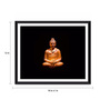 Tallenge Photographic Paper 18 x 1 x 12 Inch Gautam Buddha With Dark Background Framed Digital Art Print