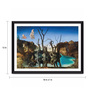 Tallenge Photographic Paper 18 x 1 x 12 Inch Modern Masters Collection Reflections Of Elephants by Salvador Dali Framed Digital Art Print