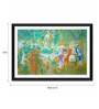 Tallenge Photographic Paper 18 x 1 x 12 Inch Modern Masters Collection Wedding Feast In The Nymphs' Grotto by Marc Chagall Framed Digital Art Print