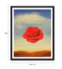 Tallenge Photographic Paper 18 x 1 x 24 Inch Modern Masters Collection Rose Meditative by Salvador Dali Framed Digital Art Print