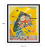 Tallenge Photographic Paper 18 x 1 x 24 Inch Modern Masters Collection Silent Harmony by Wassily Kandinsky Framed Digital Art Print