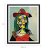 Tallenge Photographic Paper 18 x 1 x 24 Inch Modern Masters Collection Woman In Hat And Fur Collar by Pablo Picasso Framed Digital Art Print