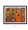 Tallenge Photographic Paper 24 x 1 x 18 Inch Modern Masters Collection Color Study Squares And Circle by Wassily Kandinsky Framed Digital Art Print