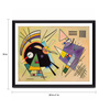 Tallenge Photographic Paper 24 x 1 x 18 Inch Modern Masters Collection Composition Viii by Wassily Kandinsky Framed Digital Art Print