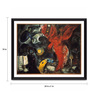 Tallenge Photographic Paper 24 x 1 x 18 Inch Modern Masters Collection The Fall Of The Angel by Marc Chagall Framed Digital Art Print