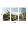 Tallenge Vinyl 36 x 0.5 x 24 Inch The Entrance to The Grand Canal in Venice Premium Quality Ready to Hang Framed Art Panels - Set of 3