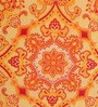 Tangerine Red Cotton Queen Size Bed Sheet - Set of 3